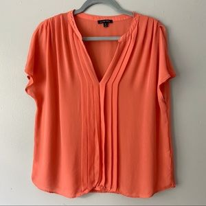 Anthropologie La Fee Verte Coral Silk Blouse - M